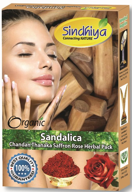 Sandalica - Chandan, Thanaka, Saffron, Rose & Herbs Pack